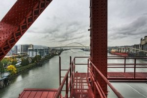 Freemont Bridge from Broadway Bridge Portland, Oregon
