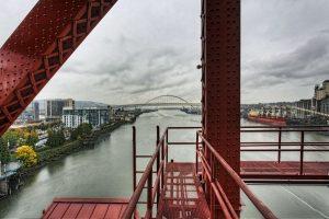 Freemont Bridge from Broadway Bridge Portland, Oregon