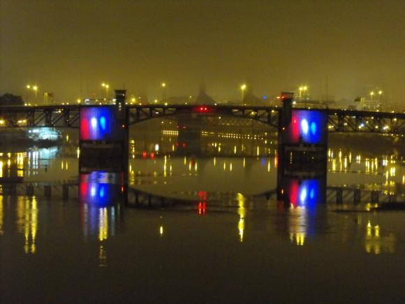 To add a dimension of delight to river crossings. & Willamette Light Brigade | Light The Bridges of Portland ...